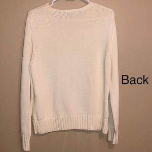 4475ffbb6f Lands  End Sweaters - Lands  end Thick white knit Sweater